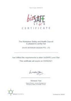 BizSafe Certification Divas Interior Design